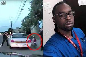 horrifying footage shows cop shoot black school worker dead in front of fiancée and four-year-old daughter
