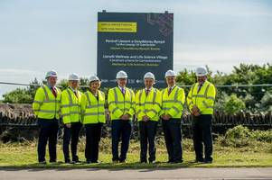 work starts on 'once in a lifetime' £200m development in llanelli