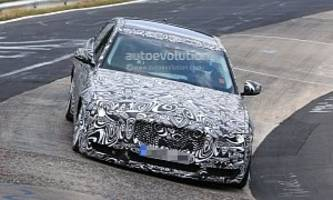 jaguar xe long wheelbase tests on the 'ring, no extra long vehicle sticker