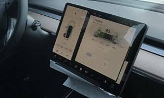Tesla Model 3 User Interface Photographed While Supercharging