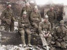colourised photos show scottish and british troops in ww1