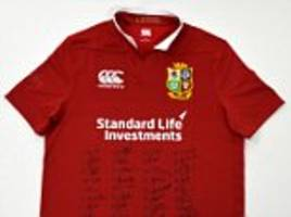competition: win a signed british and irish lions shirt