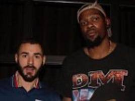 karim benzema has photo with nba ace kevin durant