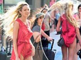 Candice Swanepoel exposes derrière in New York City