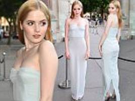 ellie bamber attends v&a  annual summer party in london