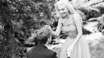 model lacole and footballer o'kane in humanist marriage