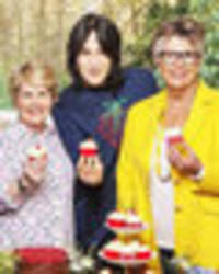 british bake off bosses order nipple cover-ups for prue leith and sandi toksvig