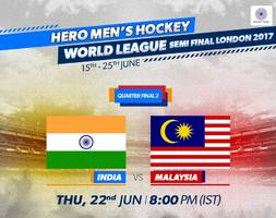 Hockey: India to take on Malaysia in QFs of World League Semifinal