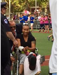 video: crystal griner throws first pitch in women's congressional game