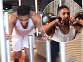 anthony joshua shows off his intense training regime