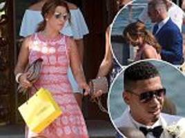 coleen and wayne rooney at chris smalling's italy wedding