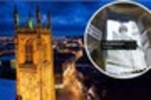 'climb up' derby cathedral tower through the power of virtual...
