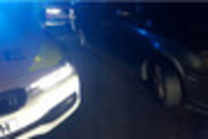 Police in Pear Tree, Derby, box in suspected stolen car and make...