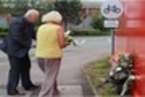 crewe crane collapse: flowers laid at scene of accident on...