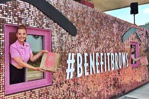 drive-thru brow makeovers from benefit cosmetics on the a37 today only