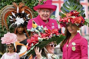 hats off to the ladies at royal ascot as flower power hits the racetrack