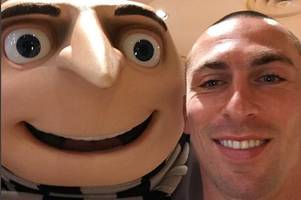 'he's like the handsome version of gru' watch despicable me star steve carell's message for celtic captain scott brown
