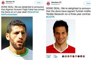 Parody Aberdeen Twitter account strikes again as it announces Yilget Fakal has signed for Dons