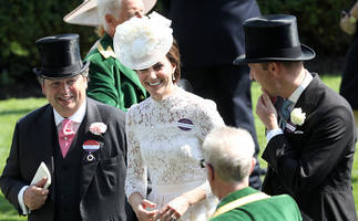 kate middleton emulates princess diana: duchess shows off a little too much in see-through dress