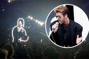 this was robbie williams' emotional tribute to his 'idol' george michael