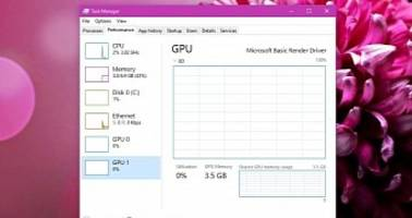 Windows 10 Task Manager Updated with GPU Information