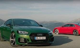 rs5 in misano red and sonoma green get extra footage as audi announces pricing