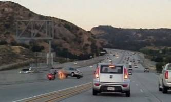 road rage between biker and sedan driver: well, that escaladed quickly