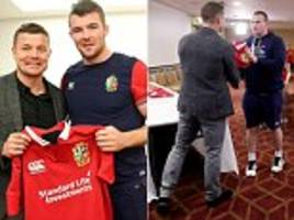 lions pull masterstroke as o'driscoll presents team shirts
