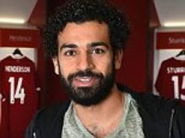 mohamed salah given first glimpse of anfield and melwood