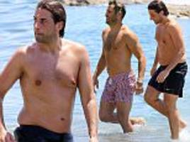towie's james argent proudly displays his trim physique