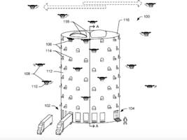 Amazon has applied to patent a beehive-like drone tower (AMZN)