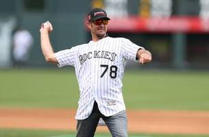 Martin Truex Jr. throws out first pitch at Colorado Rockies game