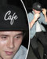 Brooklyn Beckham and Kate Moss look shattered leaving 'fetish' nightclub in Soho