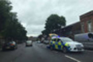 Woman treated for minor injuries after collision with car