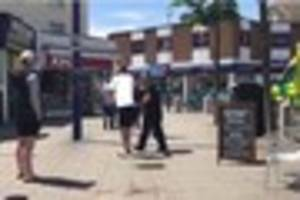 Police and paramedics deal with lunchtime fracas involving man...