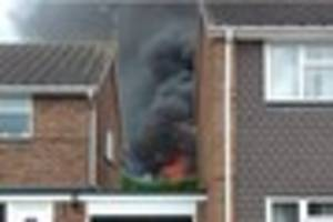 Wivenhoe fire: Garages and sheds 'destroyed' by fire that caused...