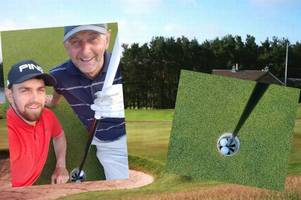 scots golfer celebrates bagging a hole-in-one ... and then watches mate repeat the feat seconds later