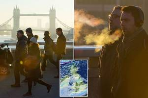 uk weather: temperatures to plummet as britain will be colder than christmas day