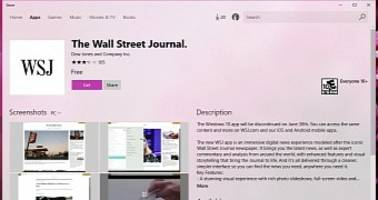 Et Tu, Brute? The Wall Street Journal Kills Its Windows 10 Mobile, PC App