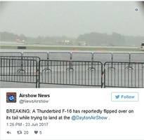 Air Force Plane Crashes While Performing at Air Show