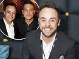 robbie williams 'offers to help' ant mcpartlin after rehab