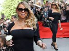 mariah carey channels old hollywood in figure-hugging lbd