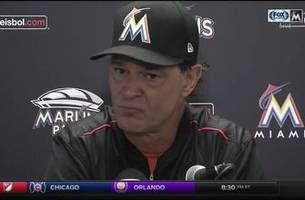 don mattingly reacts to saturday's loss to the cubs