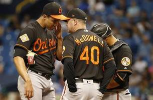 orioles pitch themselves into the mlb record book for all the wrong reasons