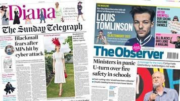 newspaper headlines: 'i wanted out' says prince harry