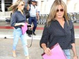 jennifer aniston is spotted arriving at lax airport