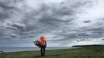 Surfer treks 300 miles round Devon and Cornwall with board