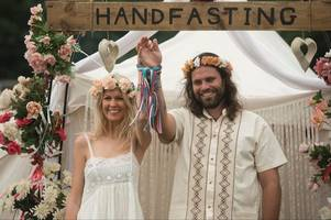 this couple travelled to glastonbury from australia to marry in a handfasting ceremony