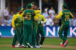 England's late collapse hands South Africa victory in thrilling T20 contest at Taunton