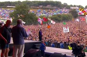 watch jeremy corbyn's glastonbury speech in full to biggest crowd at festival since rolling stones
